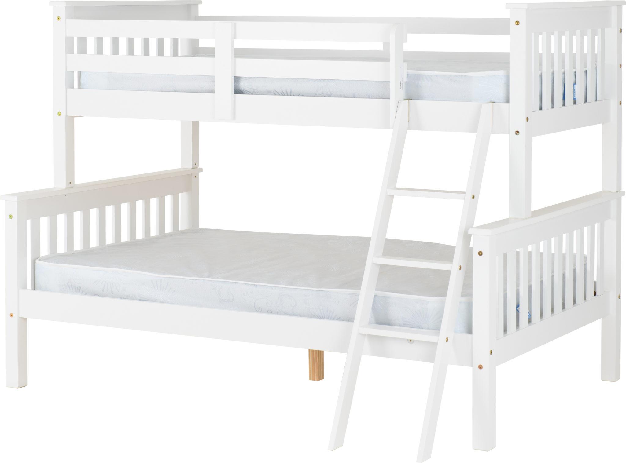 Neptune Triple Sleeper Bunk Bed White